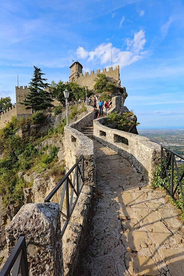 Passo delle Streghe - the Witches Path - is the most beautiful place in San Marino
