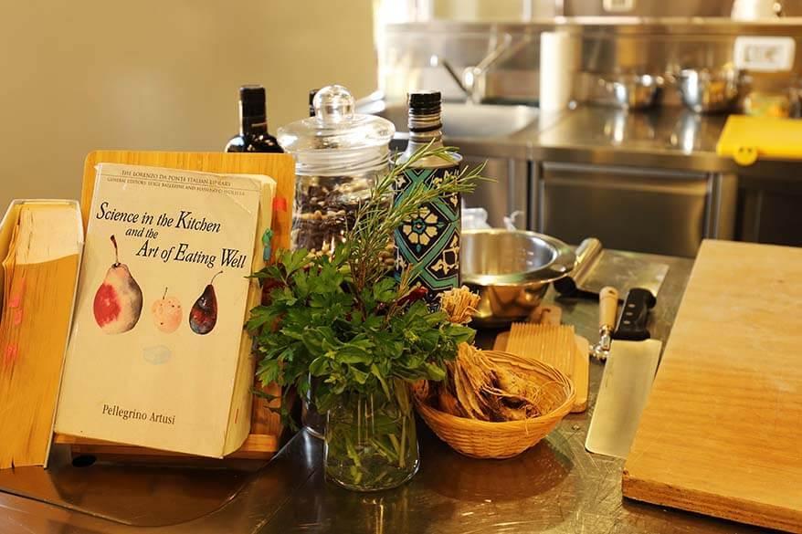 Pellegrino Artusi's Italian Cookbook at Casa Artusi in Forlimpopoli, Italy