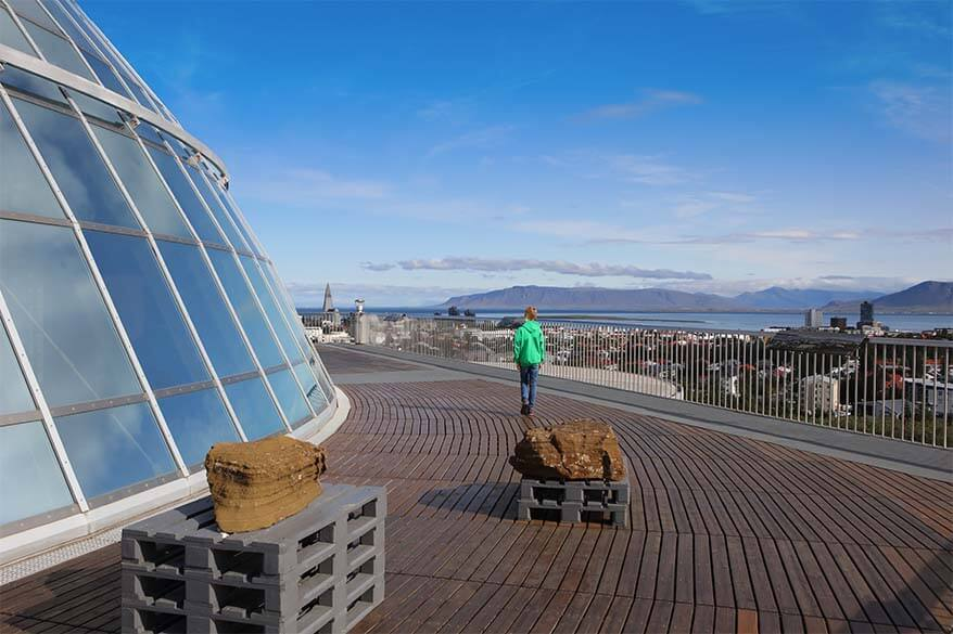 Perlan Observation Deck - best views in Reykjavik Iceland