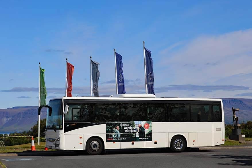 Perlan shuttle bus in Reykjavik