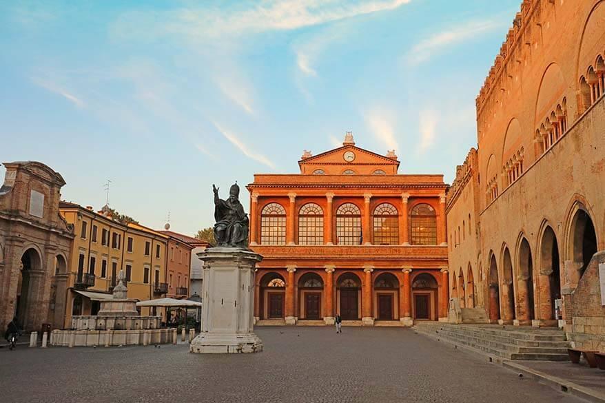 Piazza Cavour in Rimini Italy