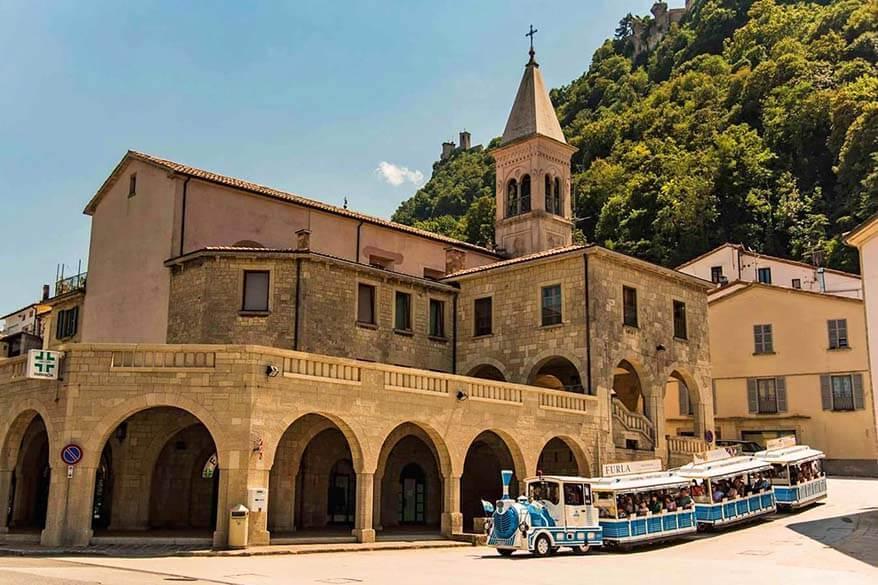 San Marino tourist train - Trenino Borgo Maggiore