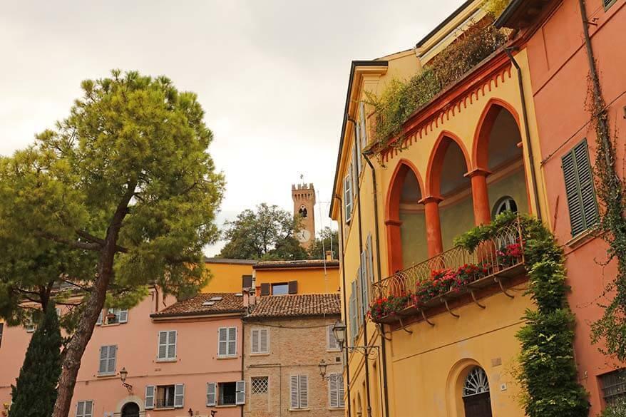 Santarcangelo di Romagna in Emilia Romagna region Italy