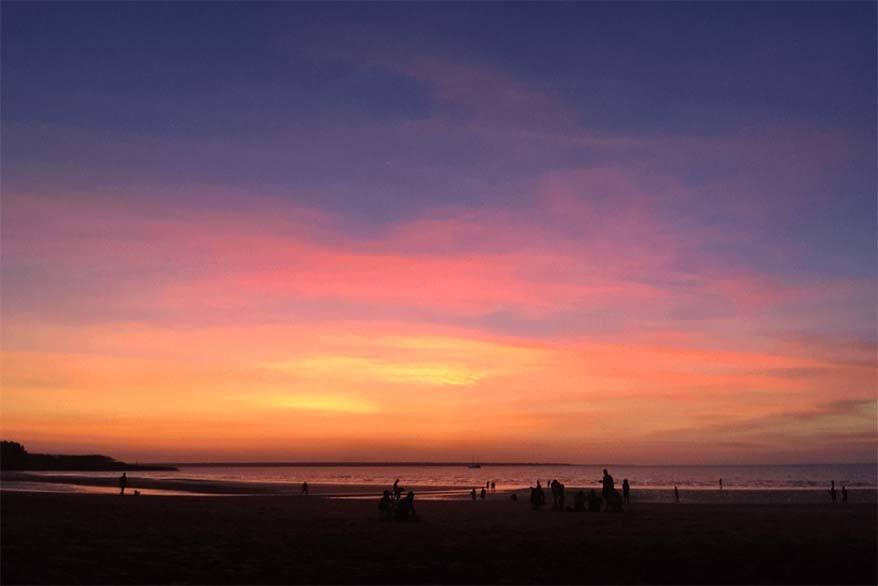 Sunset at Mindil beach in Darwin Australia