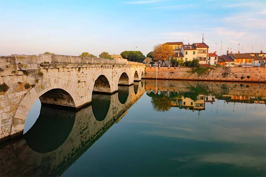Tiberius Bridge in Rimini