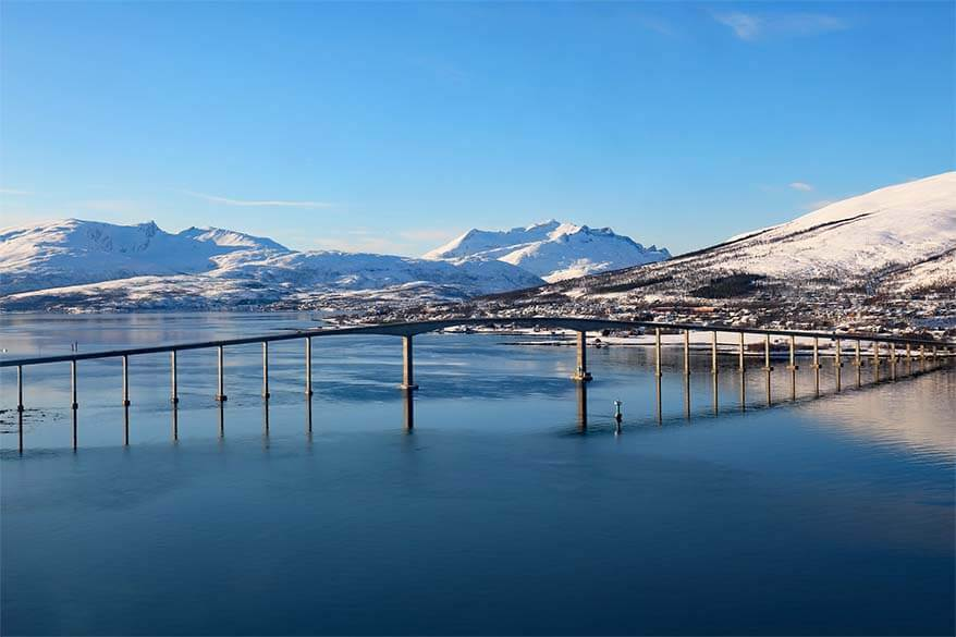 Tromso on a sunny winter day