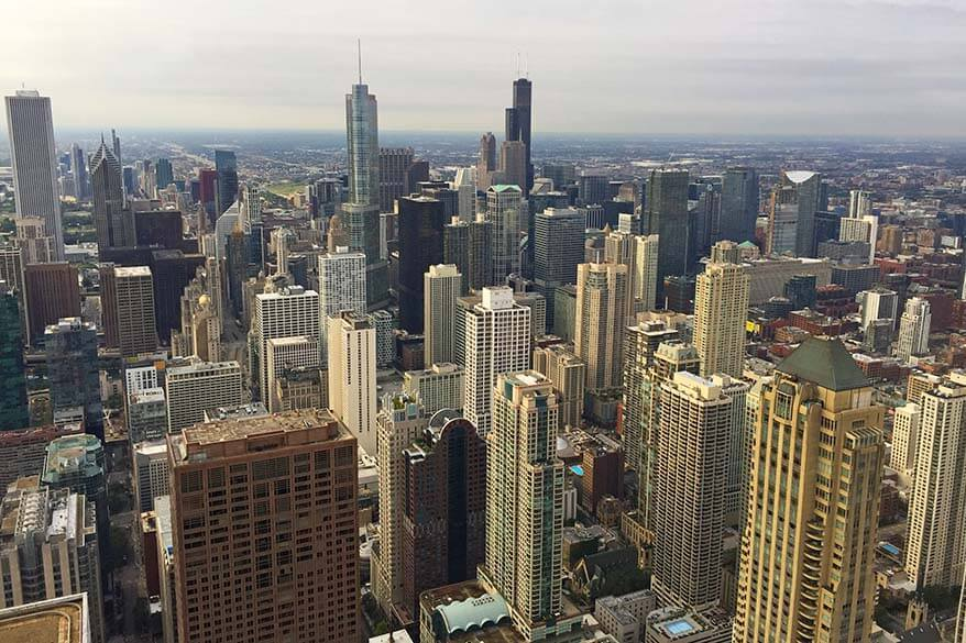 View from 360 Chicago at John Hancock Building