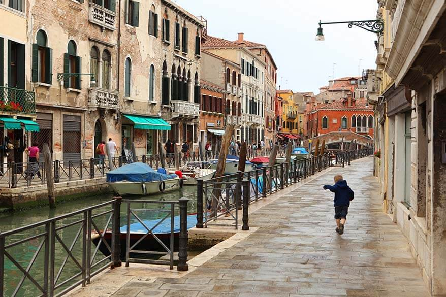Visiting Venice with toddlers and young children