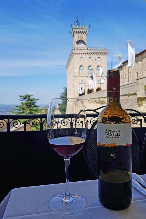 Where to eat in San Marino - view from La Terrazza restaurant