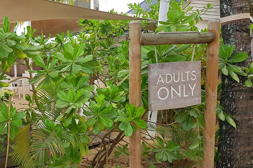 Adults only wing at the Ravenala Attitude resort in Mauritius