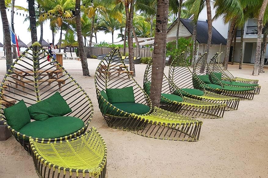 Beach at The Ravenala Attitude all inclusive resort in Mauritius