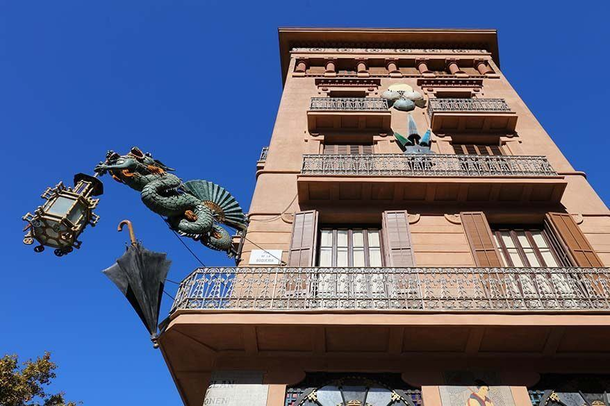 Beautiful building on La Rambla in Barcelona