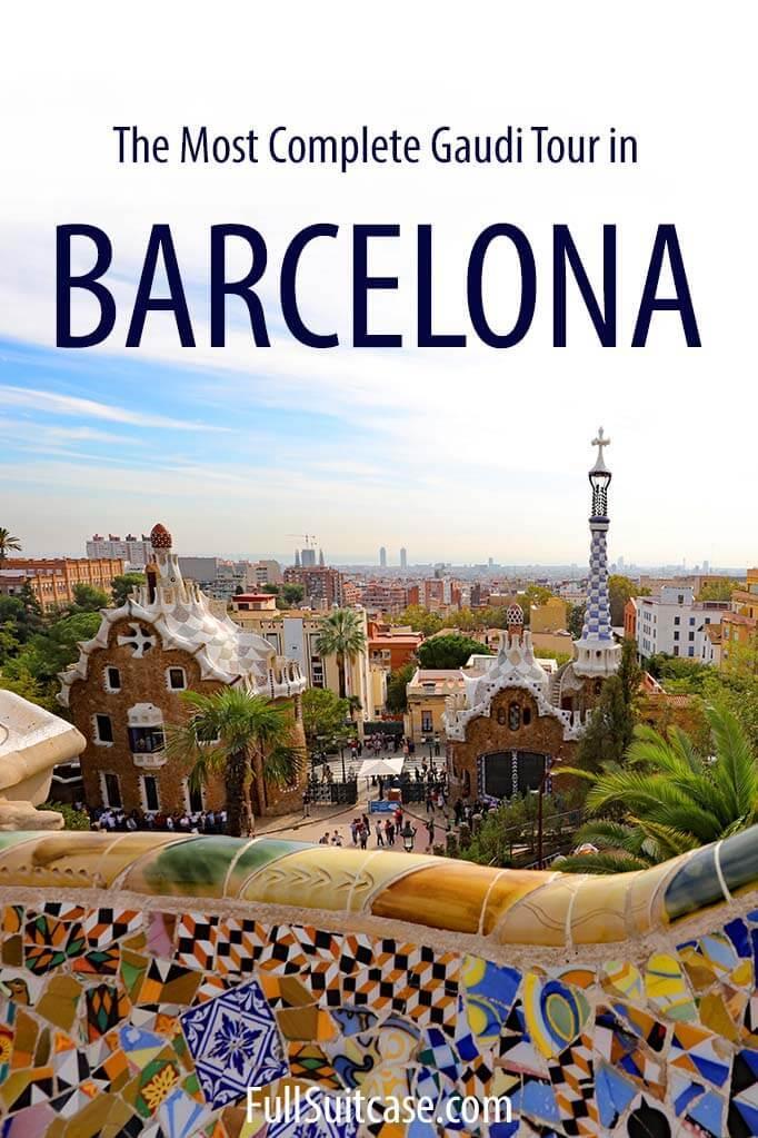 Best Gaudi tour in Barcelona - see Sagrada Familia, Park Guell, Casa Battlo, Casa Mila, and Casa Vicens in one day