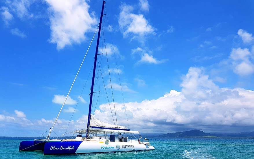 Boat trip to nearby islands is a great thing to do in Mauritius