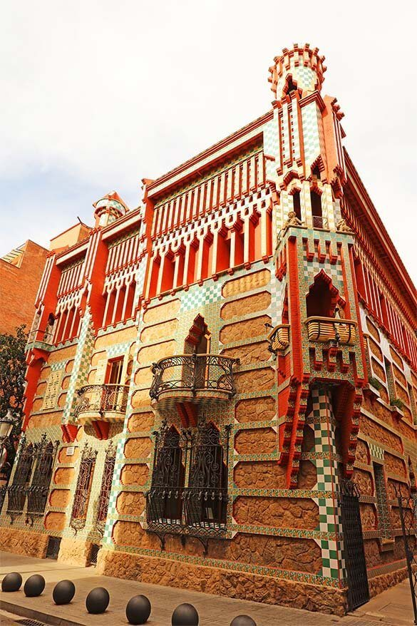 Casa Vicens - little known Gaudi building in Gracia, Barcelona
