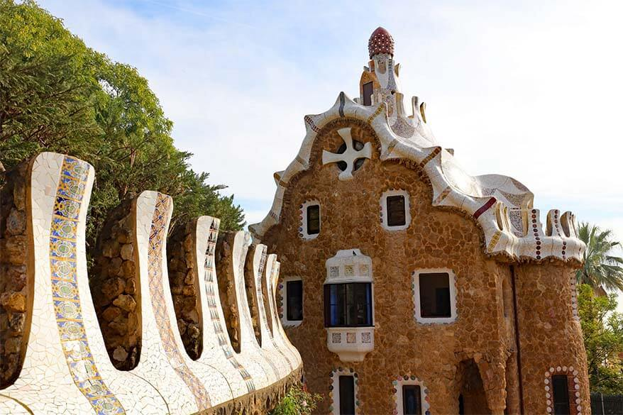 Casa del Guarda in Park Guell Barcelona