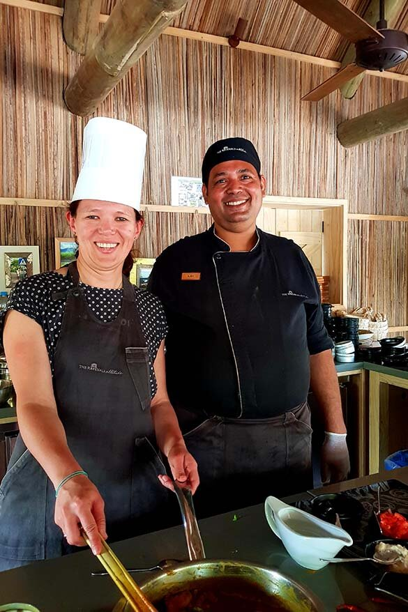 Cooking class at The Ravenala Attitude luxury resort in Mauritius