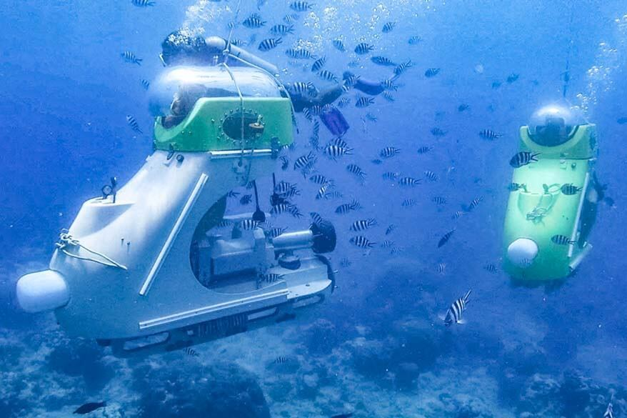 Fun things to do in Mauritius - diving with subscooter
