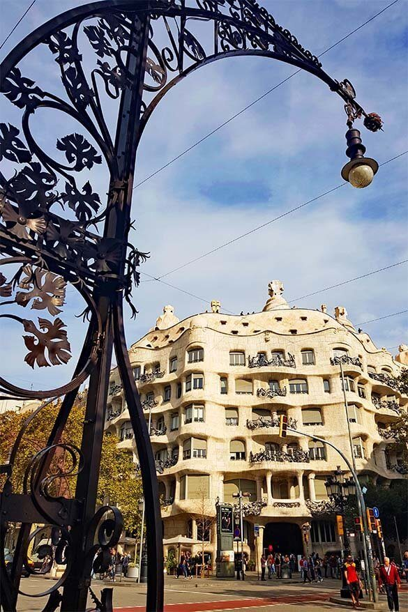 Gaudi's Casa Mila on Passeig de Gracia in Barcelona