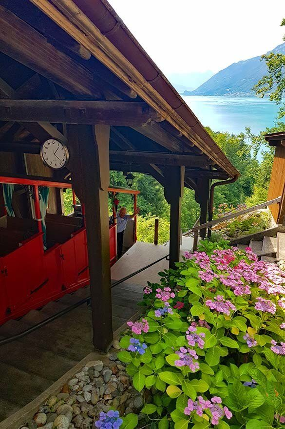 Giessbach funicular at Lake Brienz - a very nice place to see in Interlaken