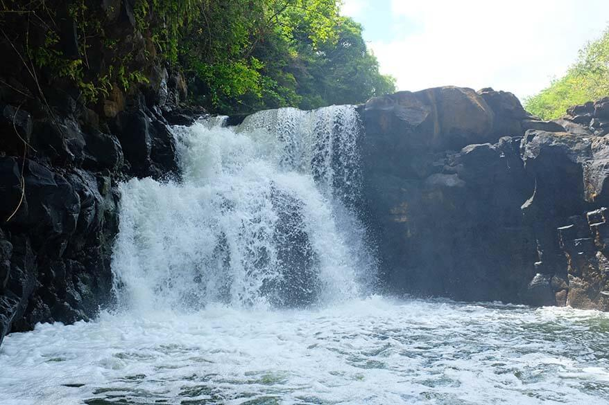 Grand River South East waterfall (GRSE) in Mauritius