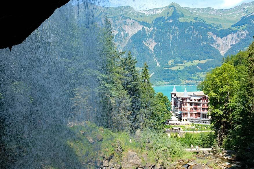 Grandhotel Giessbach and Giessbach waterfall - one of the best places to see when visiting Interlaken