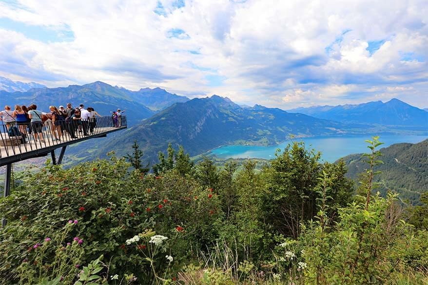 Harder Kulm - the Top of Interlaken is must see when visiting Interlaken in Switzerland