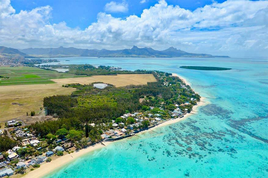 Helicopter tour is one of the most special things to do in Mauritius