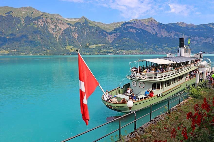 Historic paddle steamer on Brienzersee in Interlaken