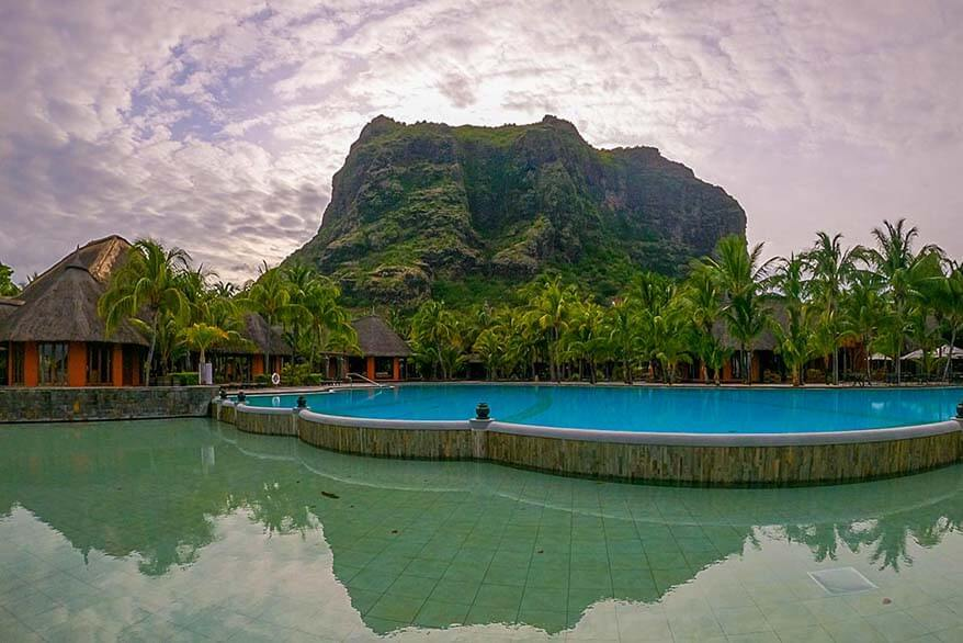 Le Morne Brabant mountain in Mauritius