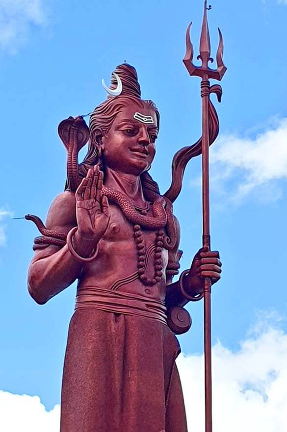 Mangal Mahadev Shiva statue at Ganga Talao in Mauritius