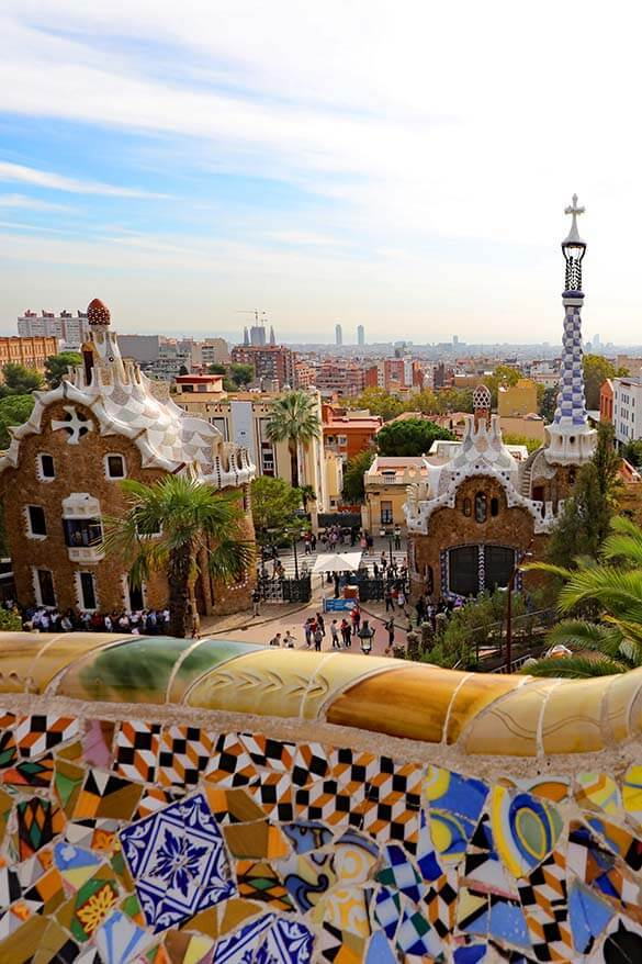 Park Guell is not to be missed on any Gaudi tour in Barcelona