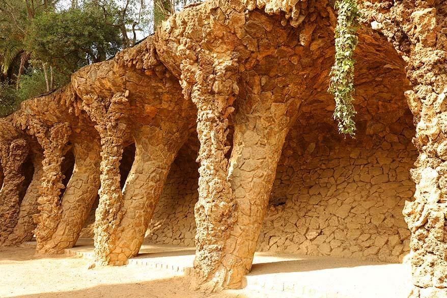 Park Guell is one of the most famous Gaudi sights in Barcelona