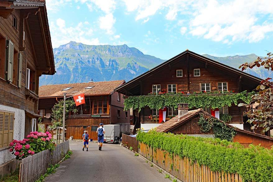 Picturesque village of Iseltwald on Lake Brienz - great place to see when visiting Interlaken