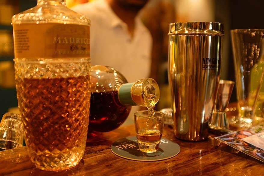 Rum tasting in Mauritius