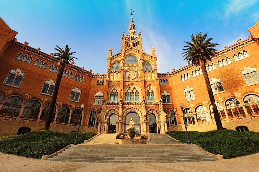 Sant Pau Art Nouveau Site in Barcelona - Recinte Modernista de Sant Pau