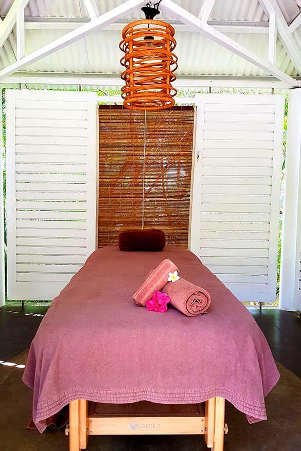 Spa area at the Ravenala Attitude hotel in Mauritius