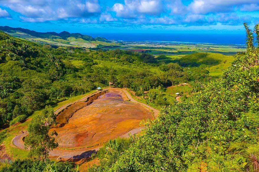 The 23 Coloured Earth and La Vallee Des Couleurs Nature Park in Mauritius
