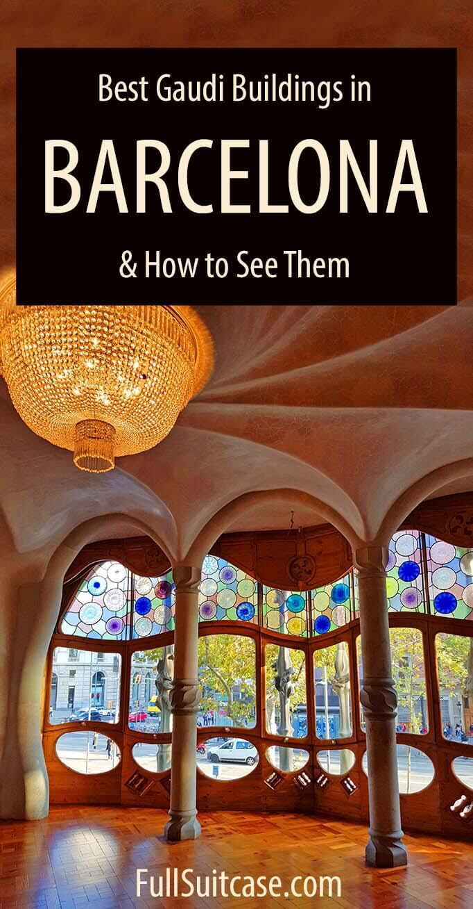 The best Gaudi buildings in Barcelona and best Gaudi tour that visits all of them