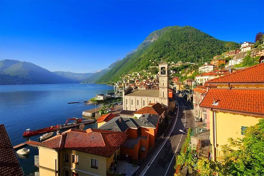 Argegno village in Lake Como Italy