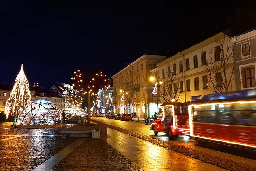 Christmas market on the Town Hall Square in Vilnius