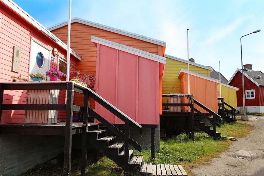 Colorful houses in Qeqertarsuaq Greenland