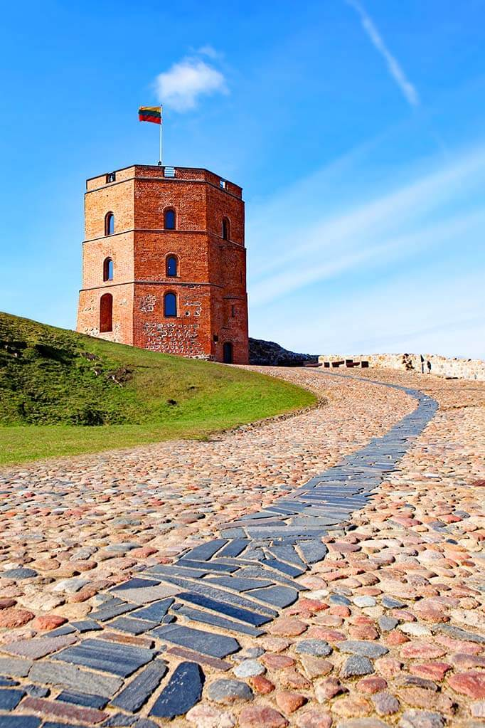 Gediminas Castle Tower - must see when visiting Vilnius in Lithuania