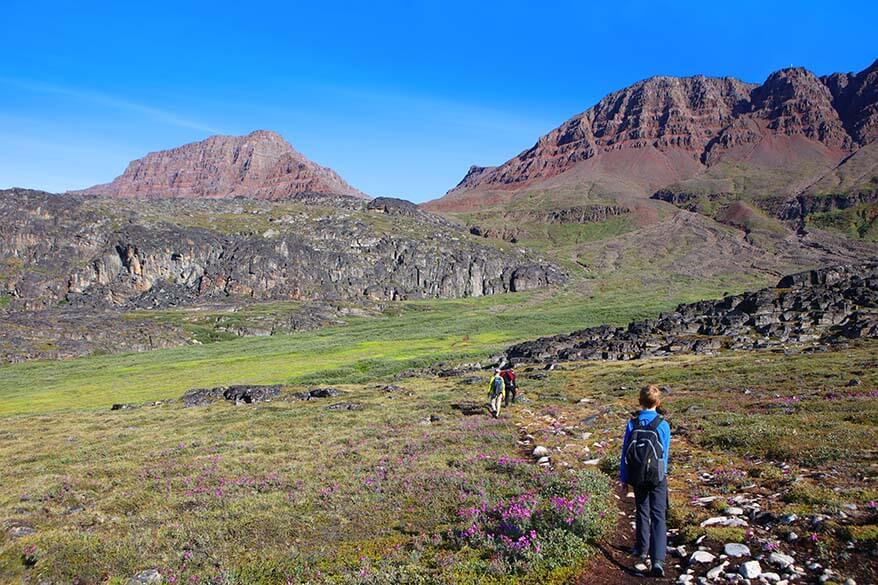 Hiking to Lyngmark Glacier on Disko Island, Greenland