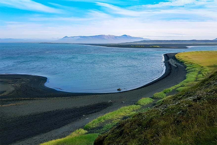Hvitsekur beach in Iceland
