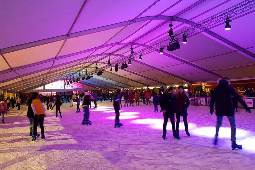 Ice skating rink - Brussels Winter Wonders in Belgium