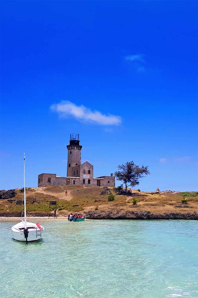 Ile aux Fouquets - Lighthouse Island is a popular stop for Mauritius boat tours