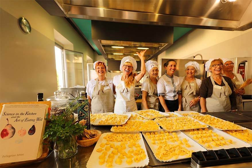 Italian cooking class at Casa Artusi in Italy