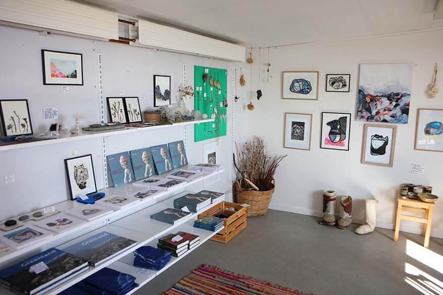 Kuannit Art gallery in Qeqertarsuaq on Disko Island