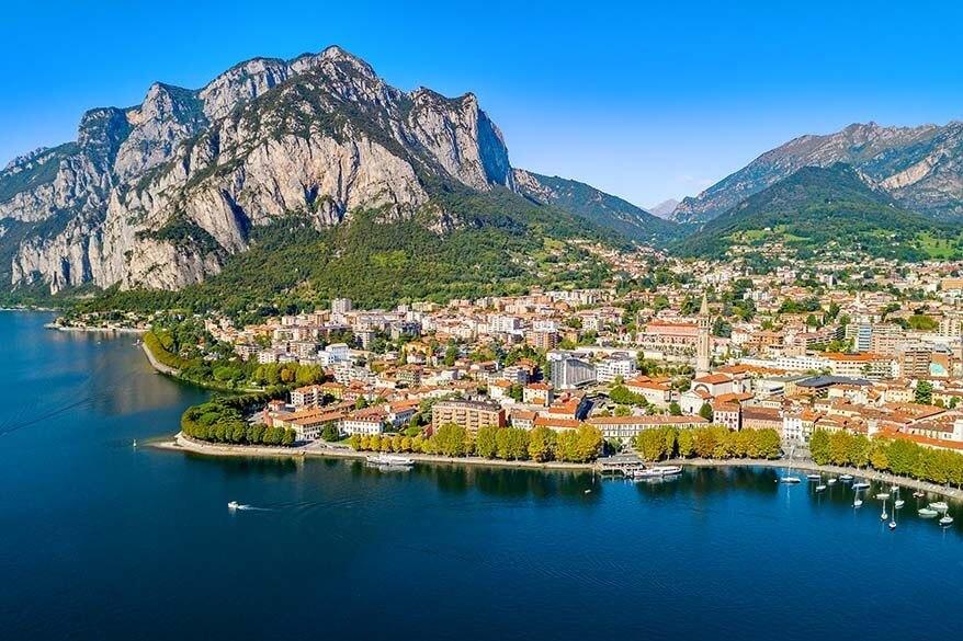 Lecco in Lake Como, Italy